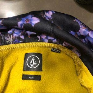 Volcom Sweaters - Volcom Let It Storm Yellow Zip Up Hoodie S…